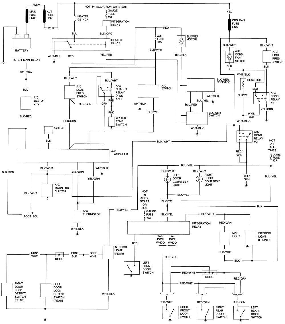 Wiring Diagram for 1993 toyota Pickup 1993 toyota Pickup Wiring Diagram Wiring Schema Of Wiring Diagram for 1993 toyota Pickup