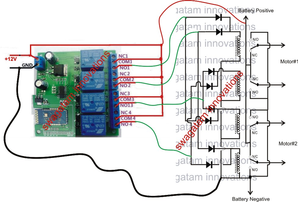Wiring the Radio Control Car Circuit Board Make A Remote Controlled toy Car Circuit Of Wiring the Radio Control Car Circuit Board