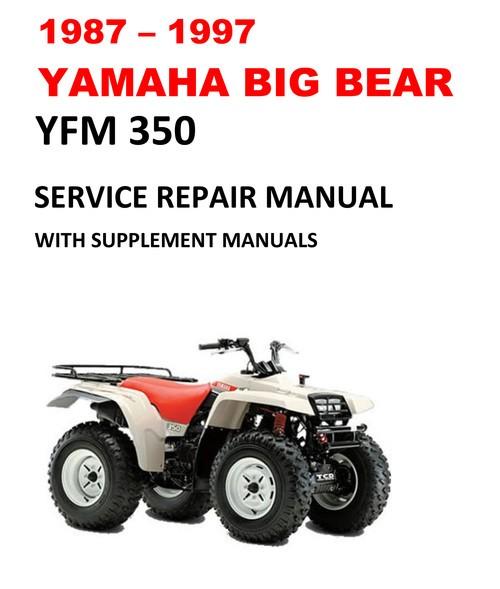 Yamaha 350 Big Bear Manual 1987 1997 Yamaha Yfm350 Big Bear Service Repair Manual Ecmanuals Of Yamaha 350 Big Bear Manual