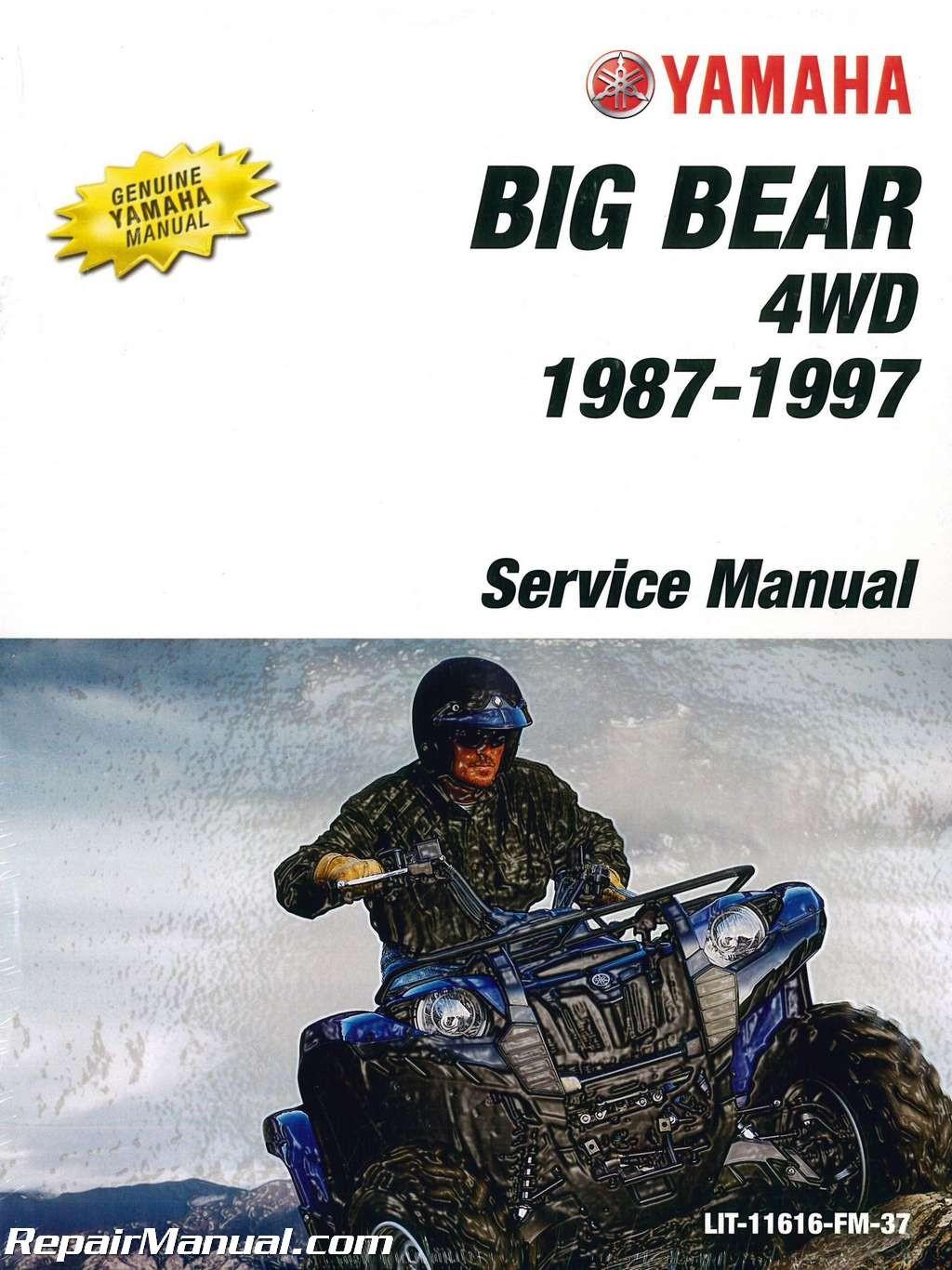 Yamaha 350 Big Bear Manual 1987 1997 Yamaha Yfm350fw Big Bear atv Service Manual