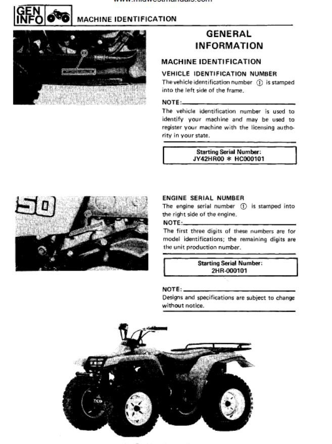 Yamaha 350 Big Bear Manual 1987 89 Yamaha Big Bear 350 Service Manual Yamaha atv forum Quadcrazy Of Yamaha 350 Big Bear Manual