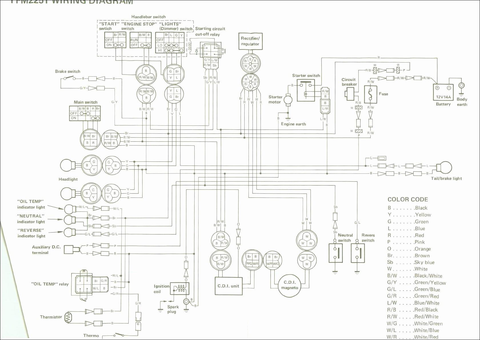 Yamaha Big Bear 350 Electric Diagram 1995 Yamaha Big Bear 350 4×4 Wiring Diagram Wiring Diagram and Schematic Of Yamaha Big Bear 350 Electric Diagram