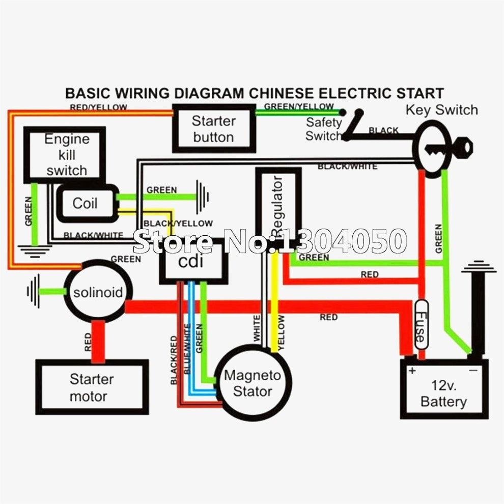 110cc 4 Wheeler Wiring Diagram Wiring Diagram for Chinese 110 atv Electrical Diagram … Of 110cc 4 Wheeler Wiring Diagram