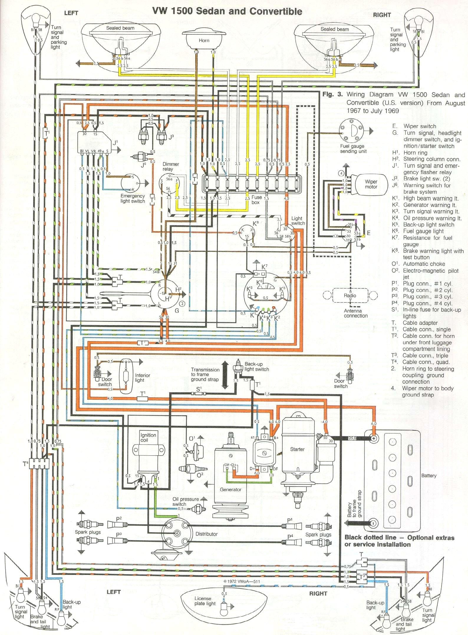 Beetle 1600 Wiring Diagram 1969-71 Beetle Wiring Diagram thegoldenbug.com Of Beetle 1600 Wiring Diagram