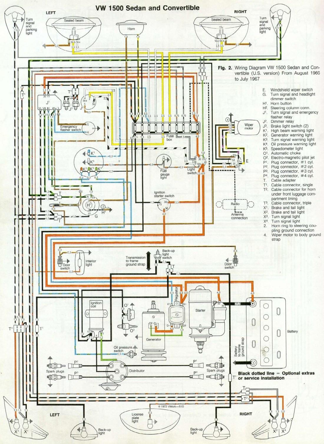 Beetle 1600 Wiring Diagram 66 and '67 Vw Beetle Wiring Diagram 1967 Vw Beetle Of Beetle 1600 Wiring Diagram