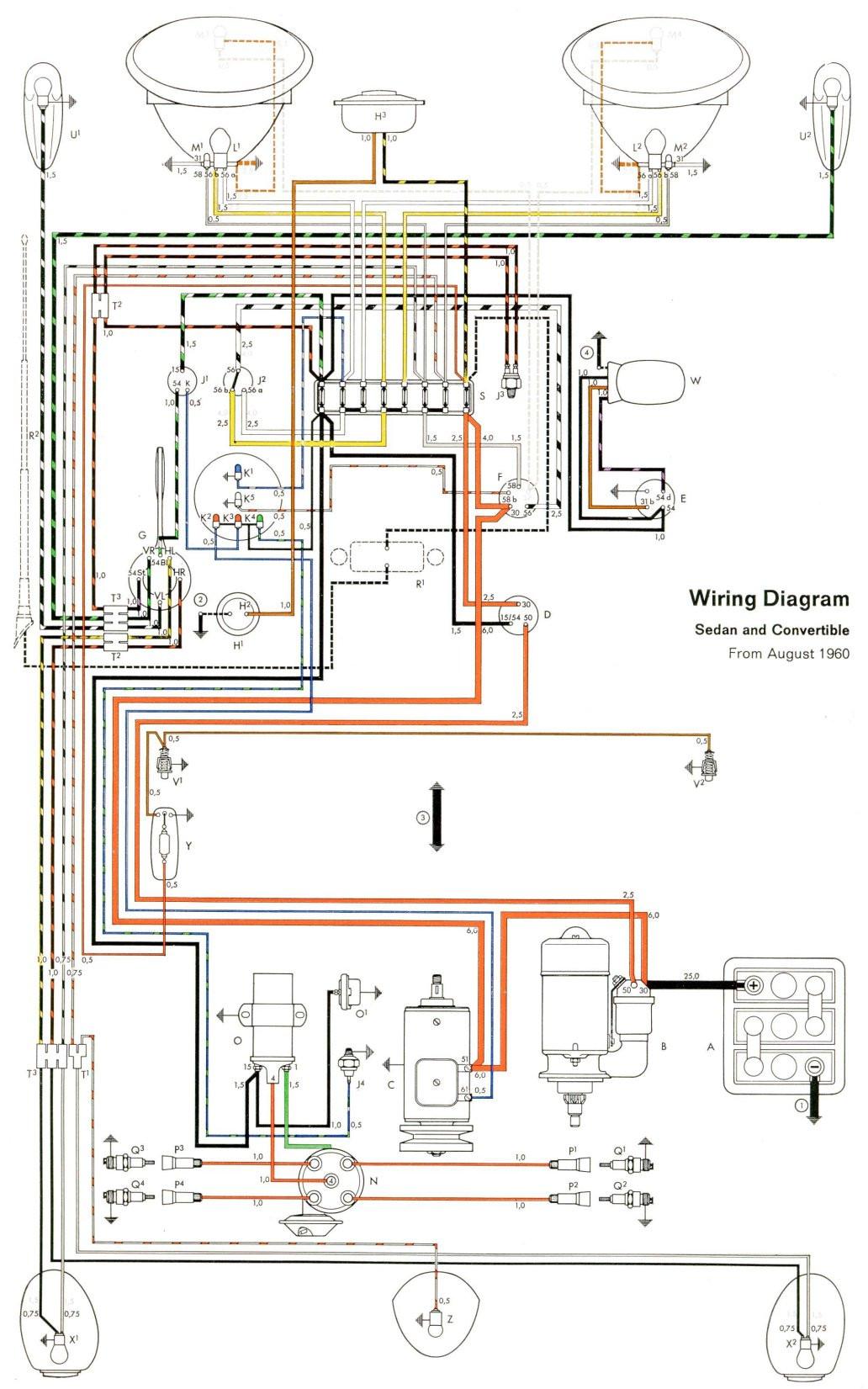 Beetle 1600 Wiring Diagram thesamba.com :: Type 1 Wiring Diagrams Of Beetle 1600 Wiring Diagram