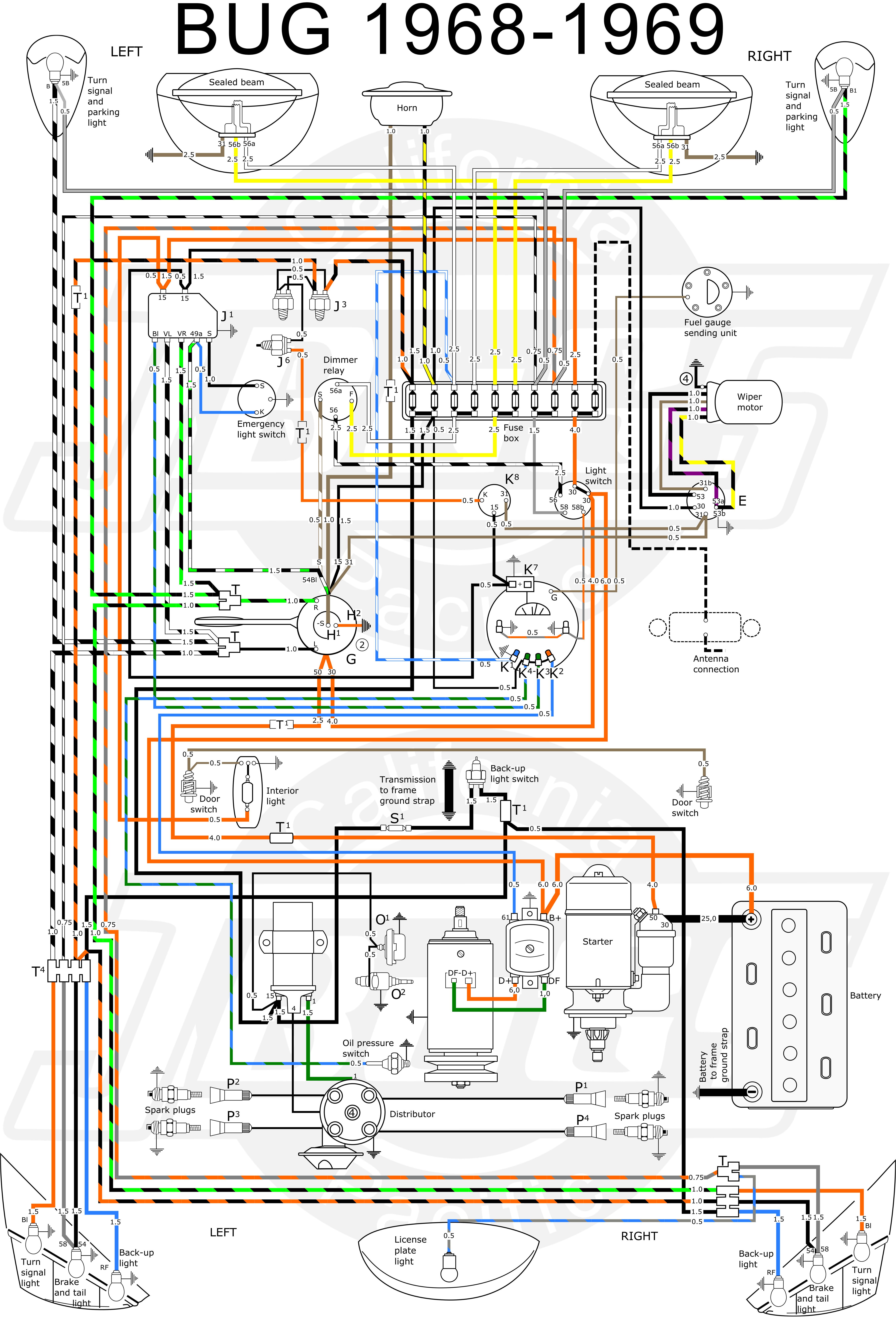Beetle 1600 Wiring Diagram Vw Tech Article 1968-69 Wiring Diagram Of Beetle 1600 Wiring Diagram