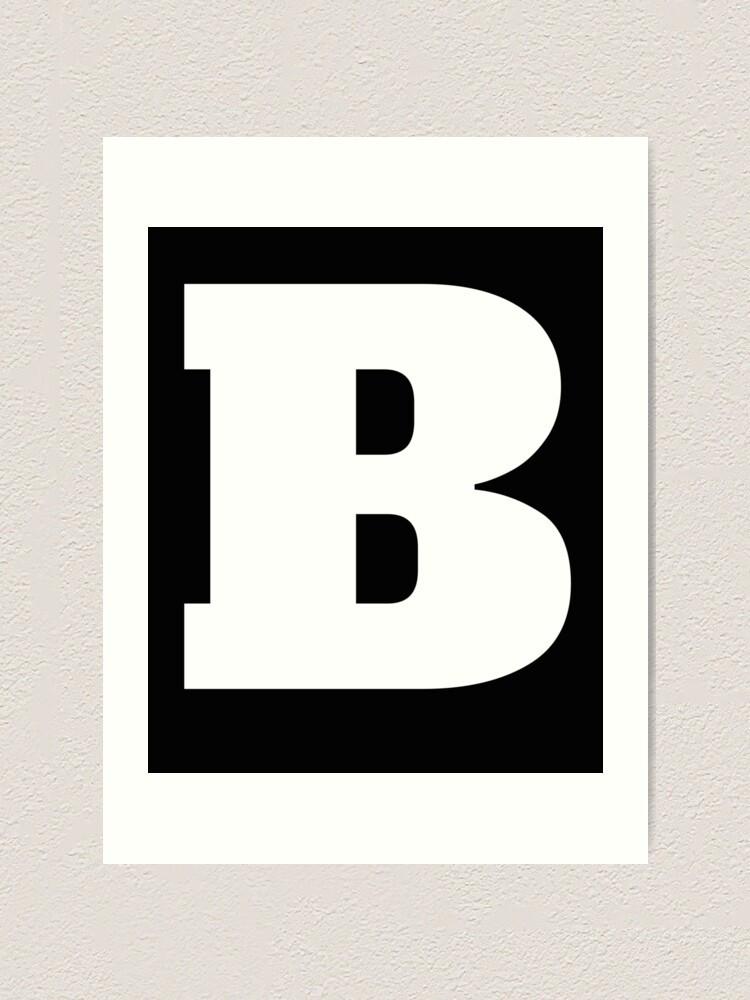 B&s 290400 Vanguard 12hp запчасти Alphabet B (großbuchstabe B), Buchstabe B Kunstdruck Of B&s 290400 Vanguard 12hp запчасти