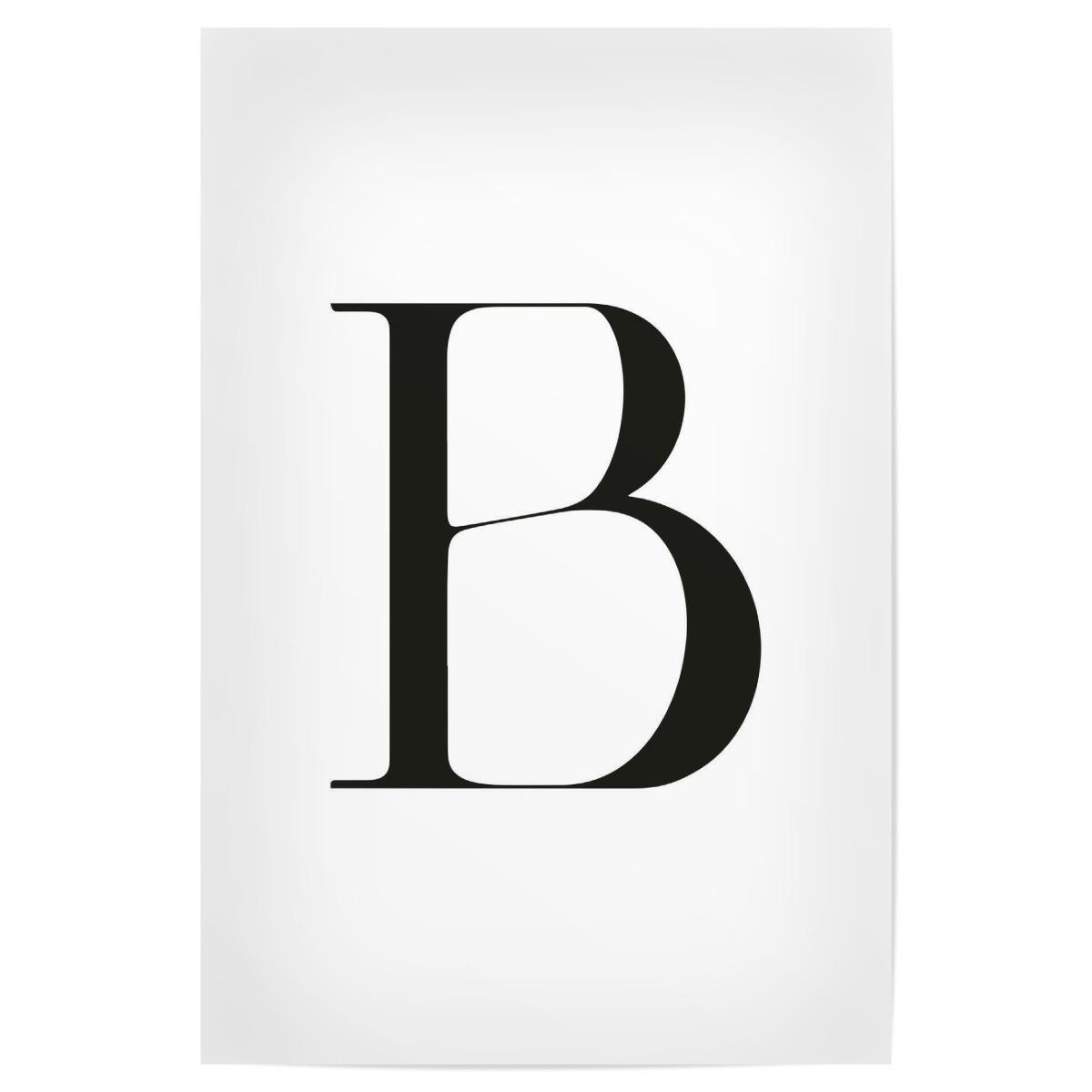 B&s 290400 Vanguard 12hp запчасти Buchstabe – B (30×20 Cm Poster) Of B&s 290400 Vanguard 12hp запчасти