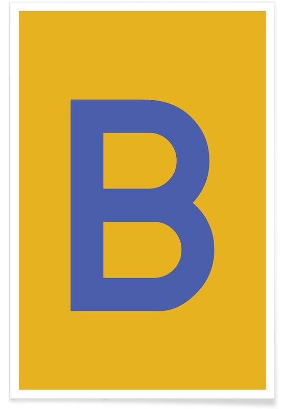B&s 290400 Vanguard 12hp запчасти Yellow Letter B -poster Juniqe Of B&s 290400 Vanguard 12hp запчасти