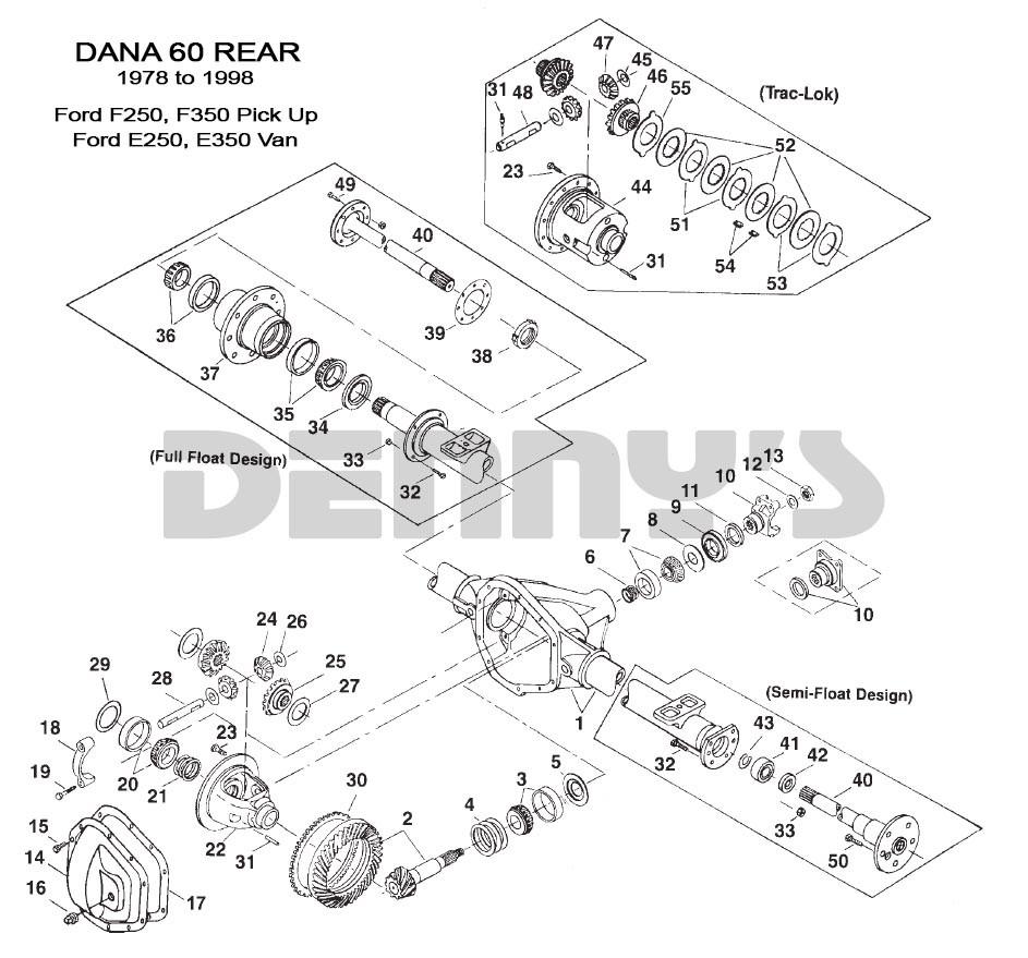 Dana 60 Front End Rear End Diagram Dana 60 Rear End – ford 1978 to 1998 Of Dana 60 Front End Rear End Diagram