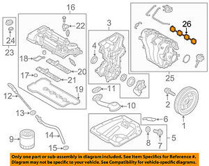 Details Of the 2016 Hyundai Veloster Engine Diagram Details About Hyundai Oem 12-17 Veloster-engine Intake Manifold Gasket 284112b600 Of Details Of the 2016 Hyundai Veloster Engine Diagram