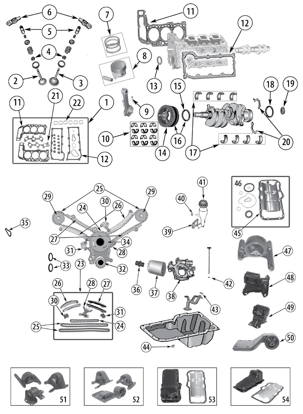 Diagrama Delmotor De Liverti 3.7 Jeep Kj 2003 Explosionszeichnung 3,7 Liter Motor Daimler-chrysler Jeep Kj … Of Diagrama Delmotor De Liverti 3.7 Jeep Kj 2003