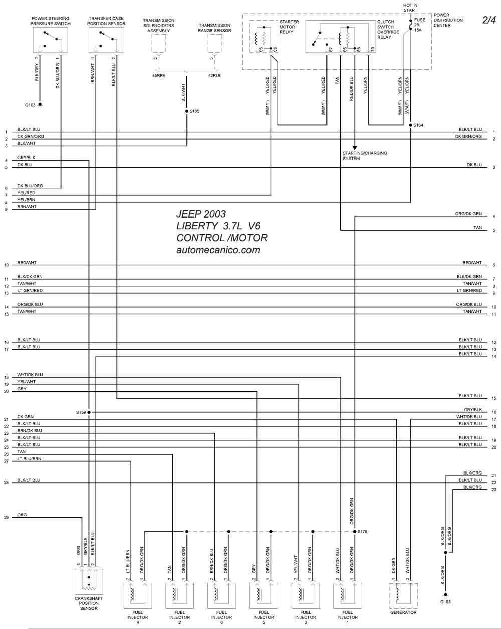 Diagrama Delmotor De Liverti 3.7 Jeep Kj 2003 Jeep 2005 Diagramas – Esquemas – Graphics Vehiculos – Motores … Of Diagrama Delmotor De Liverti 3.7 Jeep Kj 2003