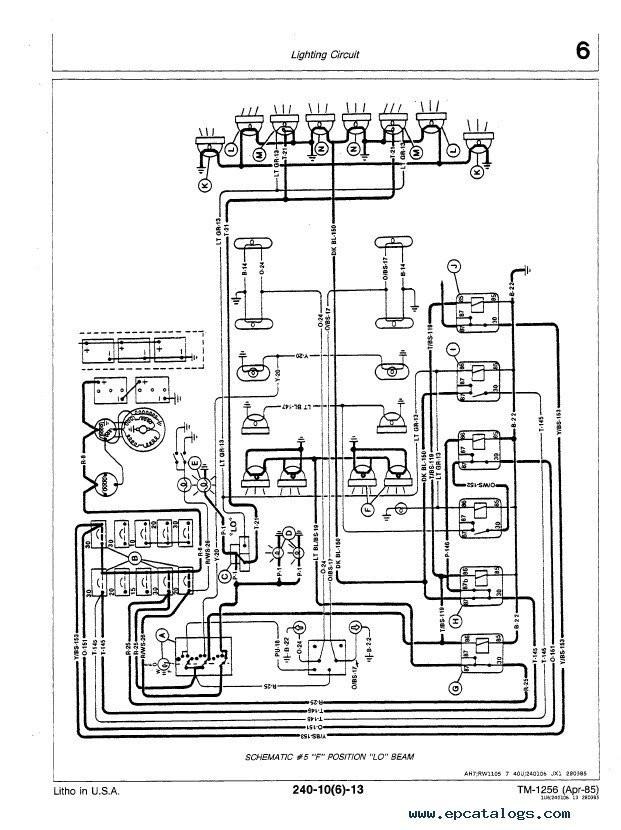 John Deere 150 Wiring John Deere 8450 8650 8850 Tractor Tm1256 Technical Manual Pdf Of John Deere 150 Wiring