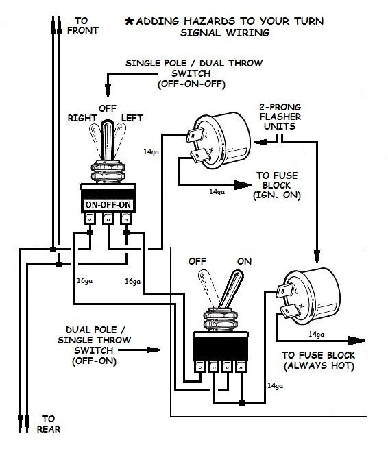 Does A 2 Wire Flasher Have Power On Both Termals Turn Signal Wiring Using Relays Factory Five Racing forum Of Does A 2 Wire Flasher Have Power On Both Termals