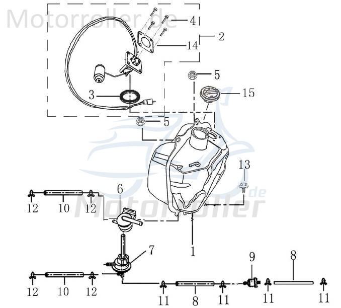En 125cc распиновка Benzinhahn Unterdruck 2 Anschlüsse 4t 125cc 1170705-1 Of En 125cc распиновка