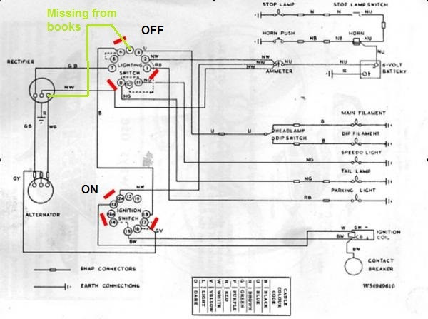 How to Wire A Bsa C15 1965 C15 Charging Of How to Wire A Bsa C15