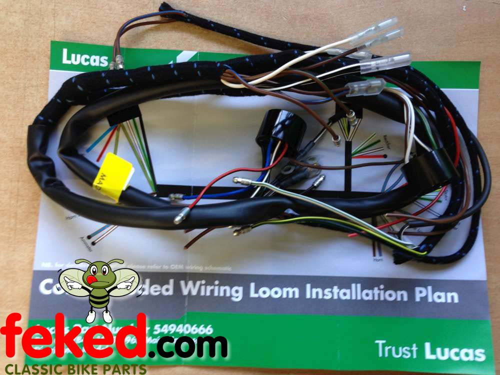 How to Wire A Bsa C15 Bsa C15, B40 Genuine Lucas Main Wiring Harness – 54940666 Of How to Wire A Bsa C15