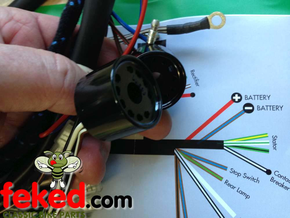 How to Wire A Bsa C15 Bsa C15, B40 Genuine Lucas Main Wiring Harness – 54949610 Of How to Wire A Bsa C15
