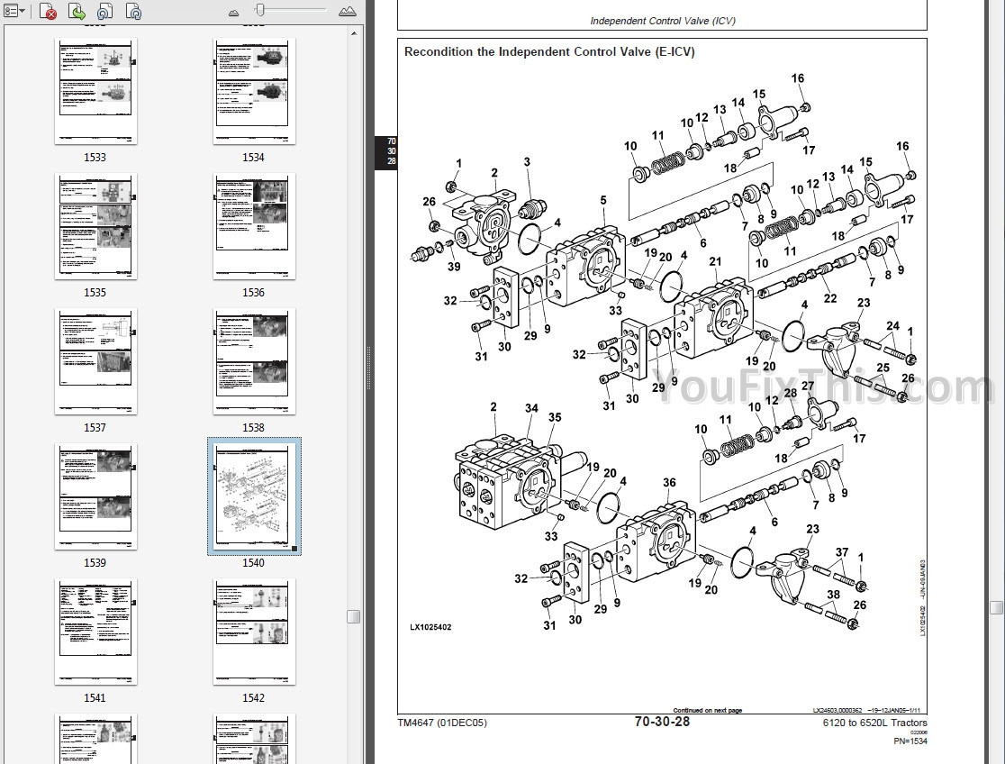 John Deere 6320l Electrical Diagram John Deere 6120 to 6420 & 6120l to 6520l Repair Manual [tractors … Of John Deere 6320l Electrical Diagram