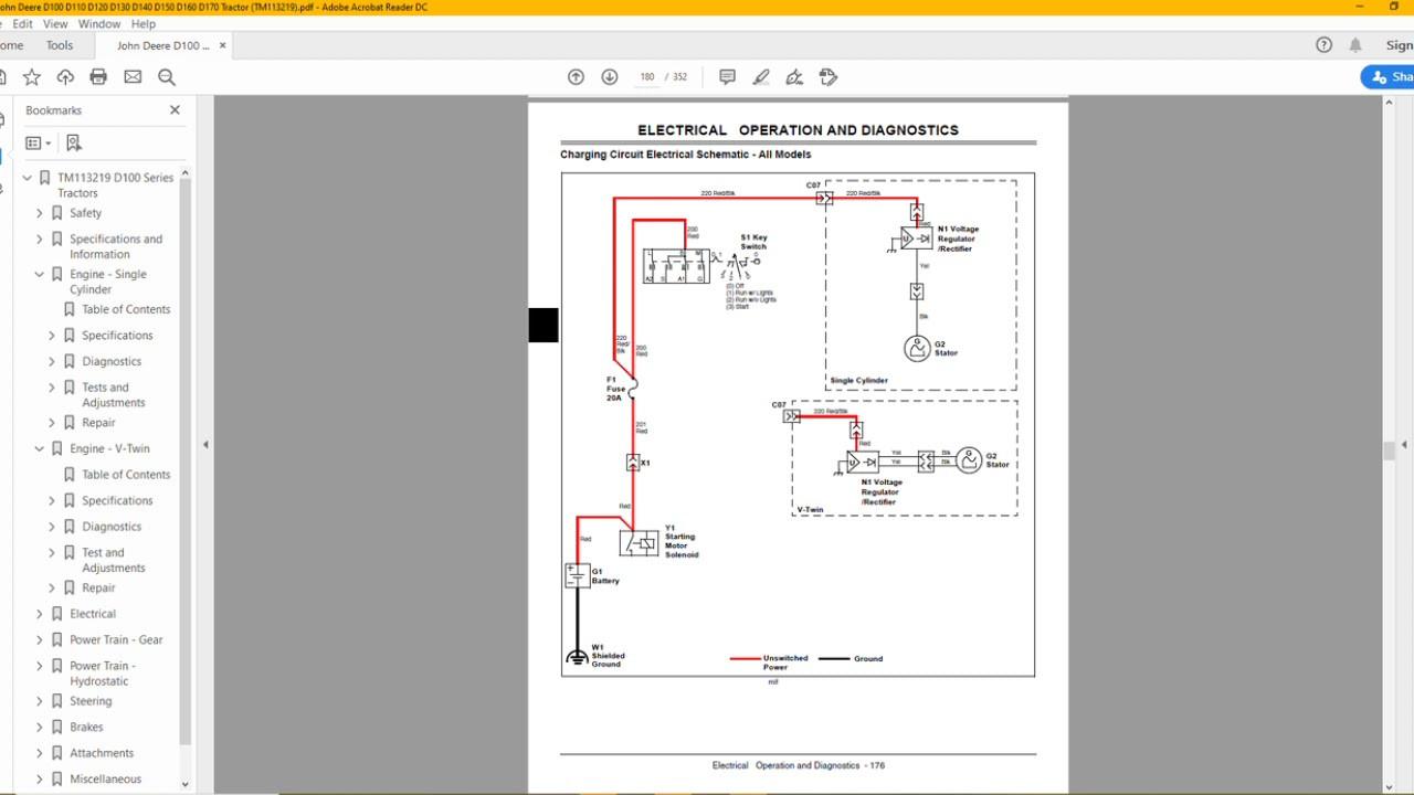 John Deere D100 Wiring Schematic John Deere D100 D110 D120 D130 D140 D150 D160 D170 Repair Manual … Of John Deere D100 Wiring Schematic