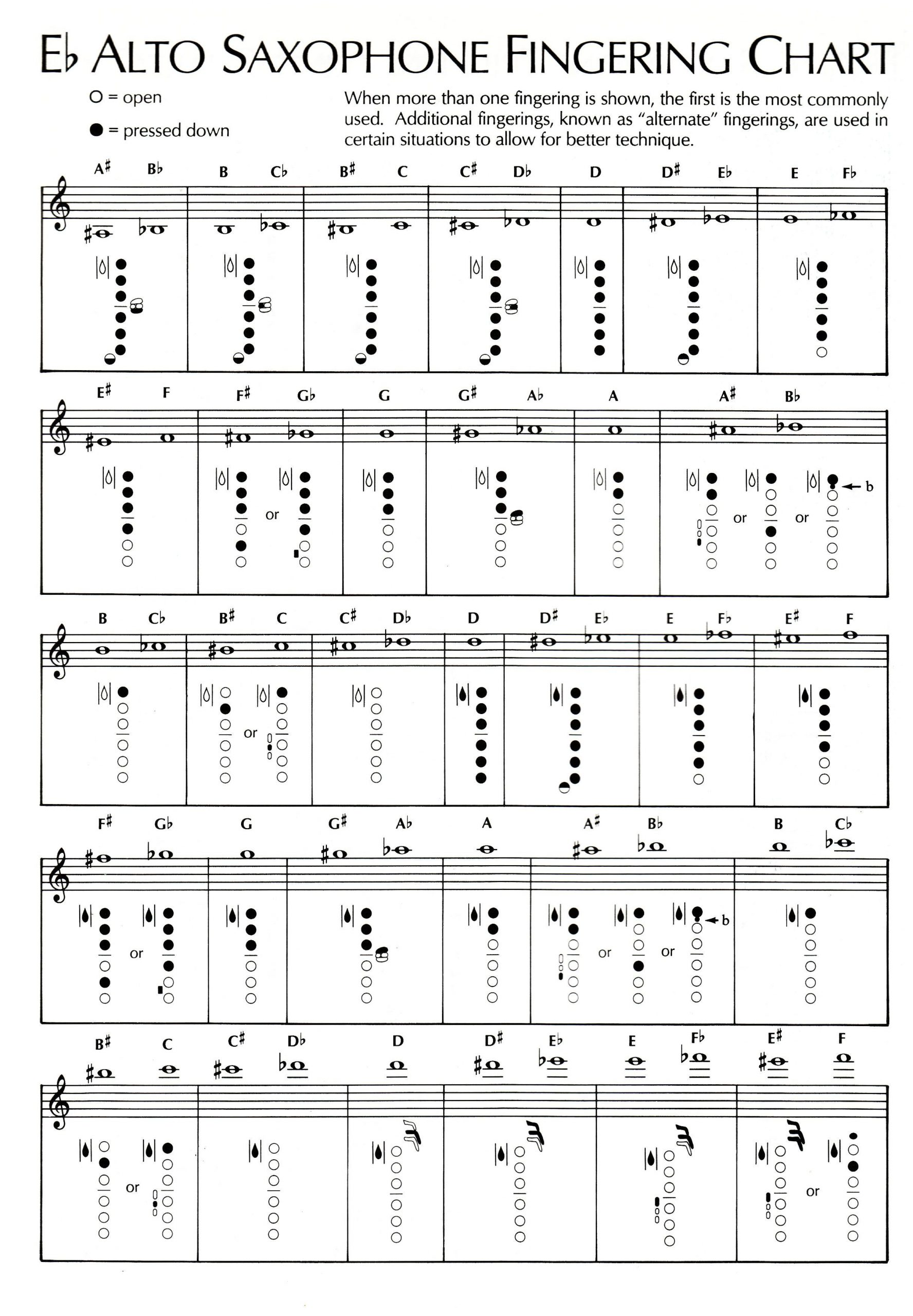 Saxophone Fingering Charts Pin On Saxophone Madness Of Saxophone Fingering Charts