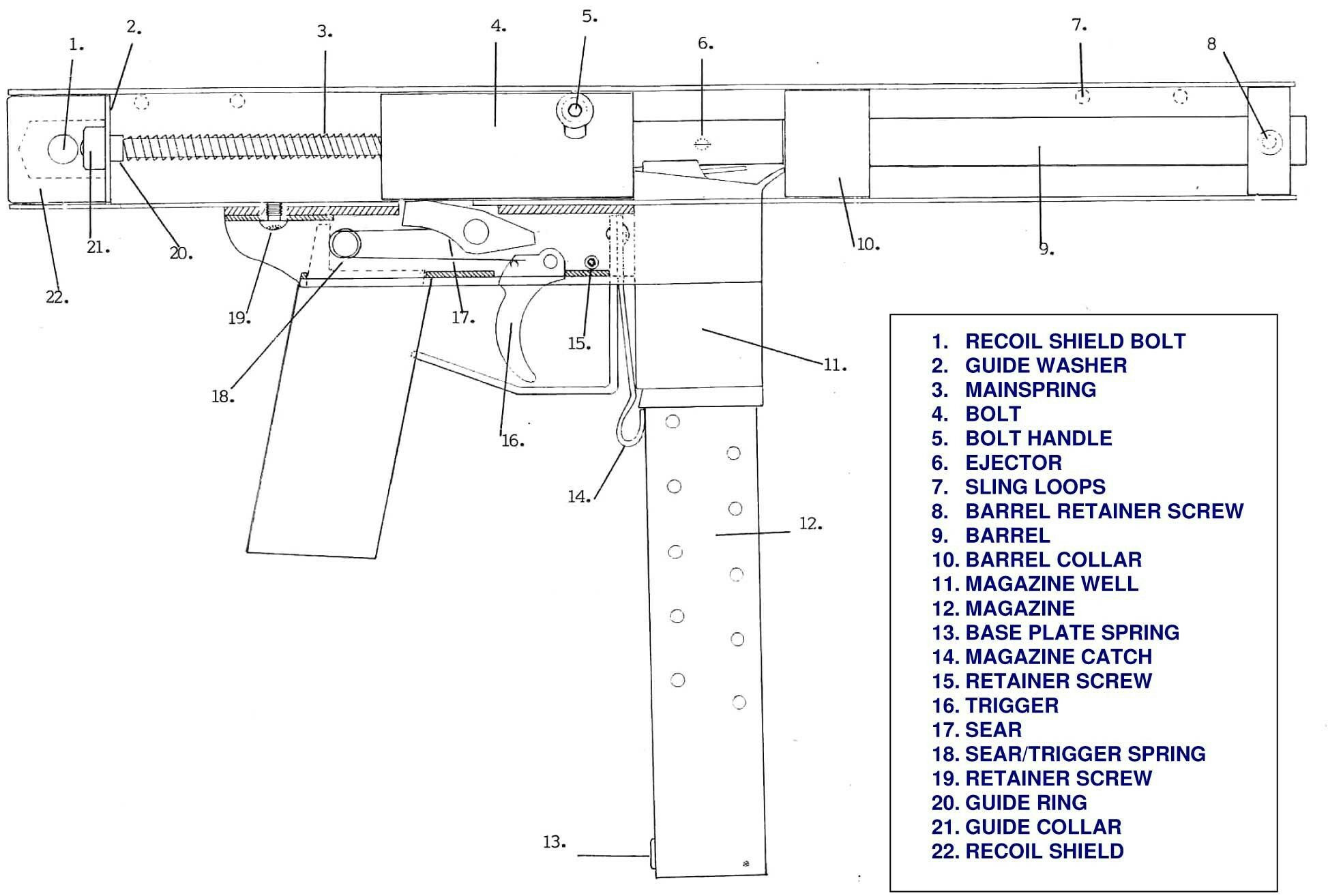 Schematic and Plans Of the Intratec Tec-22 Pin by John Carter On Stuff How to Plan, Guns, Diy Guns Of Schematic and Plans Of the Intratec Tec-22