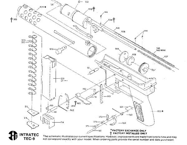 Schematic and Plans Of the Intratec Tec-22 the Tec-9 Gentlemint Of Schematic and Plans Of the Intratec Tec-22