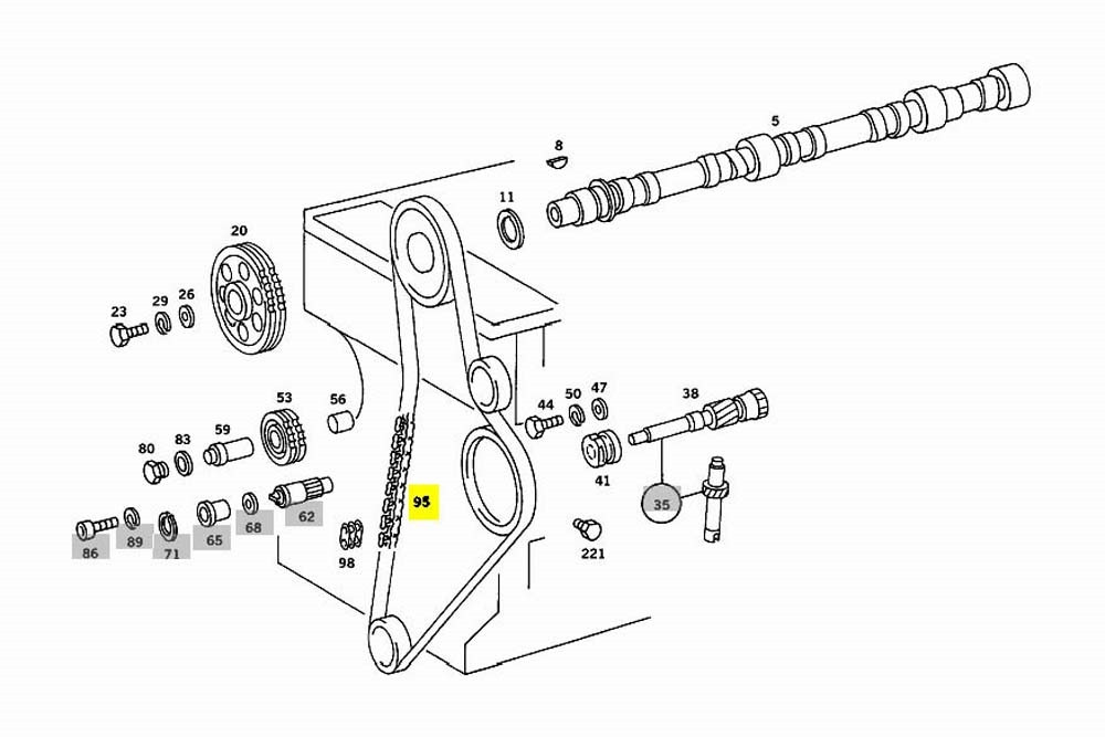 Show Mercedes Benz 616 Engine Timing Diagram Mercedes Timing Chain New Oe Om615 Om616 Om617 Diesel W115 W116 … Of Show Mercedes Benz 616 Engine Timing Diagram