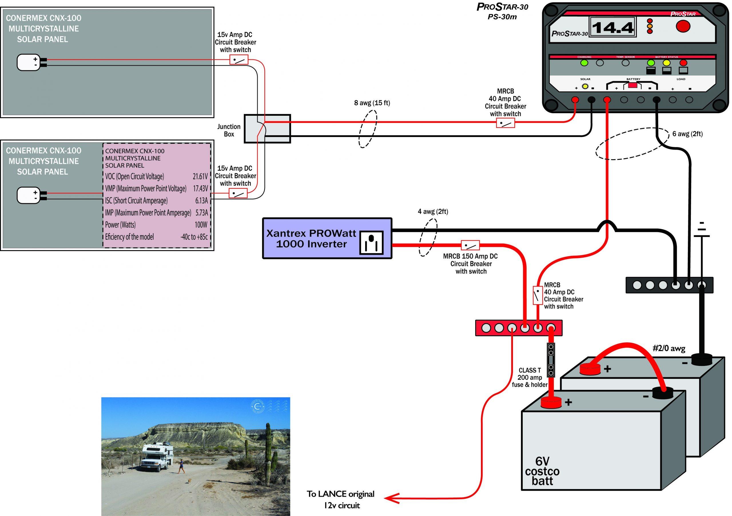 Truck Camper Wiring Diagram Newbie solar Truck Camper Setup — northernarizona-windandsun Of Truck Camper Wiring Diagram