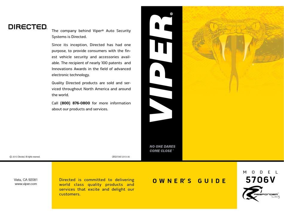 Viper 5706v Manual Pdf Viper 5706v Owner's Manual Pdf Download Manualslib Of Viper 5706v Manual Pdf