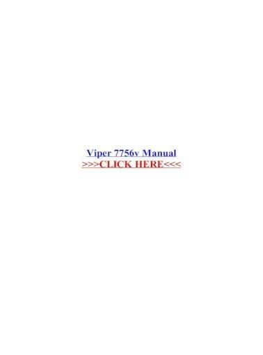 Viper 5706v Manual Pdf Viper 7756v Manual – .viper 7756v Manual Viper 7756v • 2-way Lcd … Of Viper 5706v Manual Pdf