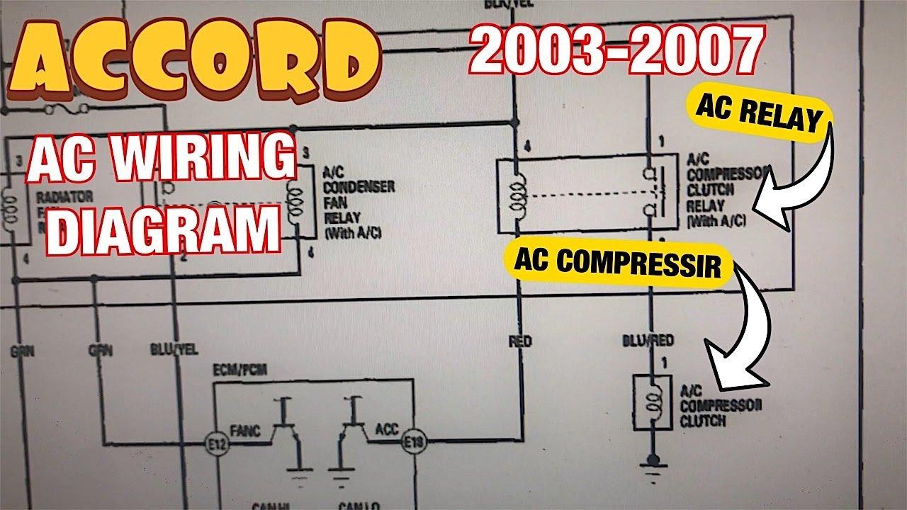 Wiring Diagram Honda Crv 2003 2.4l Honda Accord 2.4l 2003 to 2007 Ac Compressor Wiring Diagram, Relay and Fuse Explained Of Wiring Diagram Honda Crv 2003 2.4l